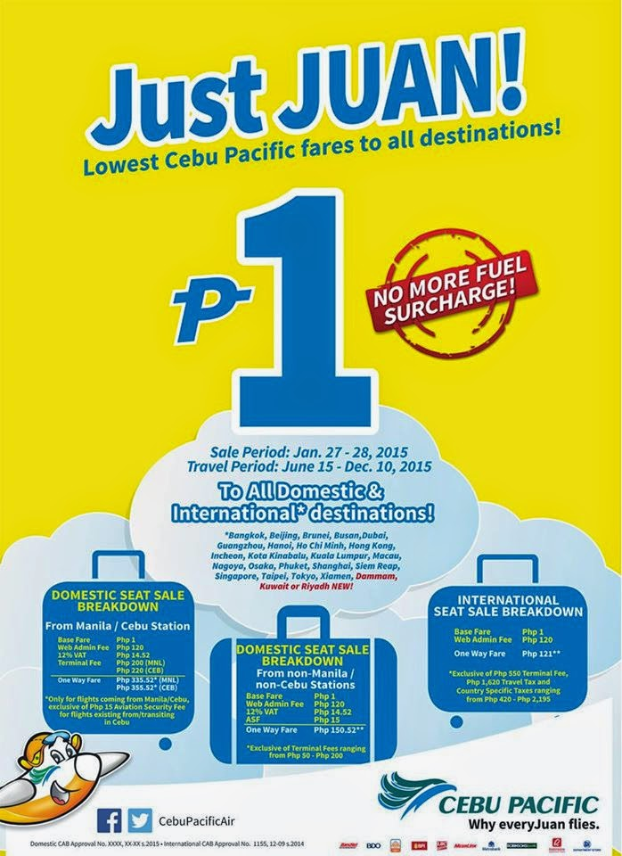 cebu pacific pisofare