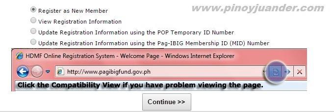 HDMF online registration