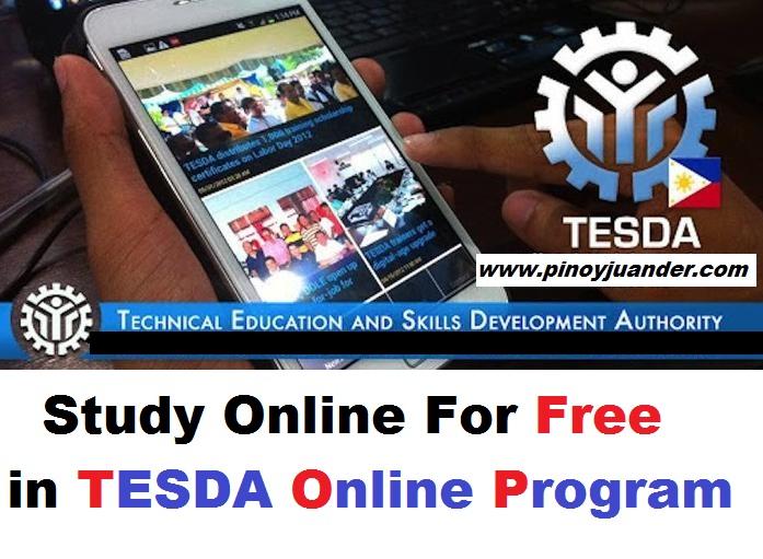 TESDA Program Online Courses 1