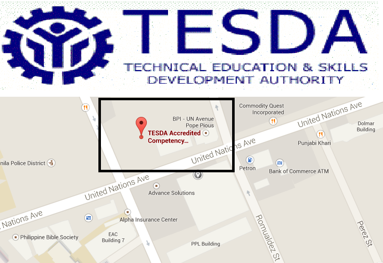 tesda accredited training centers