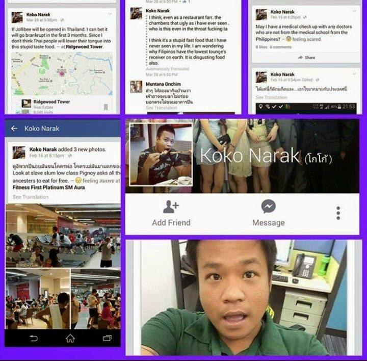 Viral News And Advertorial Writer: (Koko Narak) Thai National Working In Philippines Calls