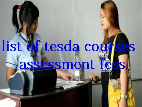 tesda assessment fees