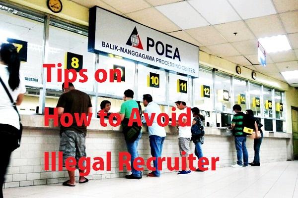 tips to avoid illegal recruiter poea