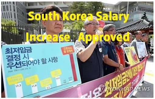 minimum salary wage increase in South Korea_ofw
