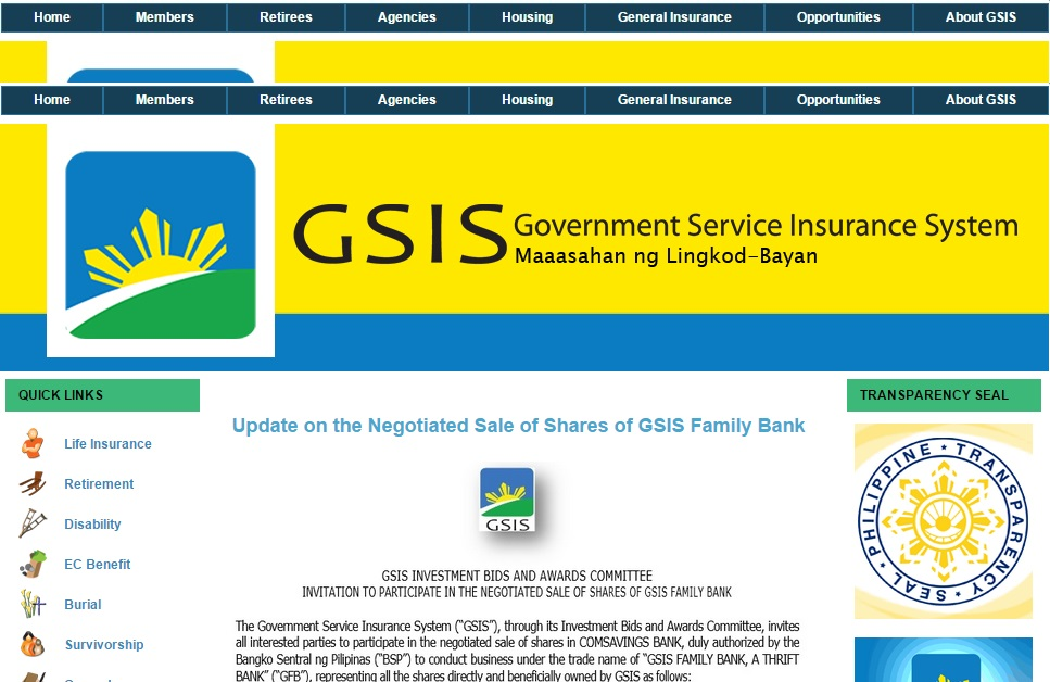 GSIS BENEFITS AND INSURANCE