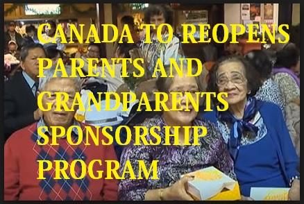 Canada Parent and Grandparent Sponsorship