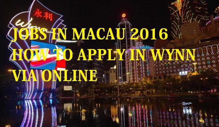 direct hiring jobs in macau for Wynn
