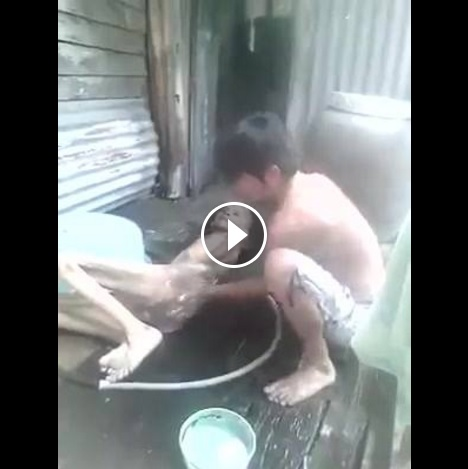 Man Does An Incredible Job Taking Care Of His Father