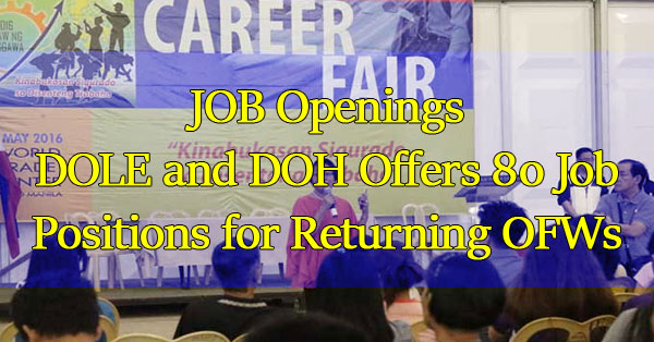 DOLE-and-DOH-Offers-80-Job-Positions-for-OFWs