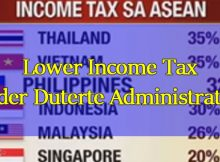 Lower Income Tax under duterte