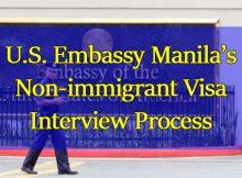 U.S. Embassy Manila's Nonimmigrant Visa Interview Process