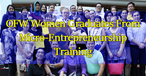 Over-40-OFW-Women-Graduates-From-Micro-Entrepreneurship-Training