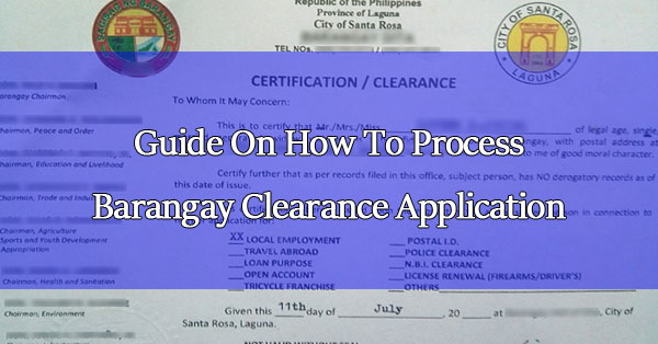 Step by Step Guide On How To Process Barangay Clearance