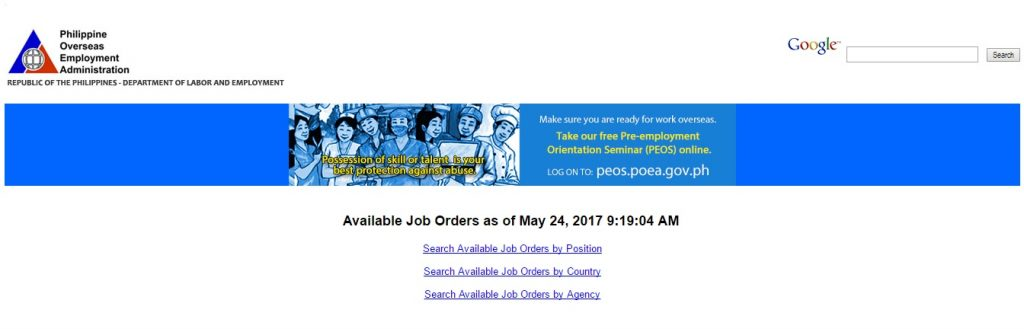 Steps on How to Look for Overseas Jobs at POEA website_2