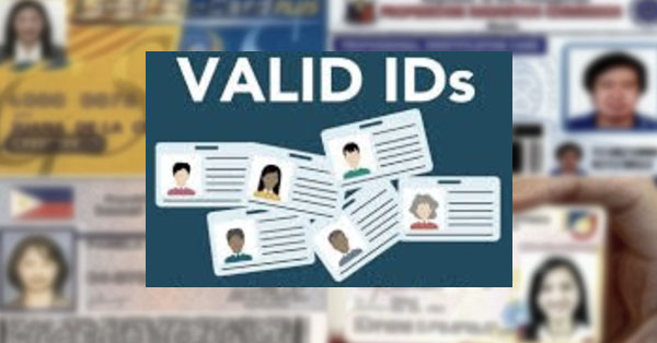 List-of-Acceptable-and-Valid-ID's-in-the-Philippines