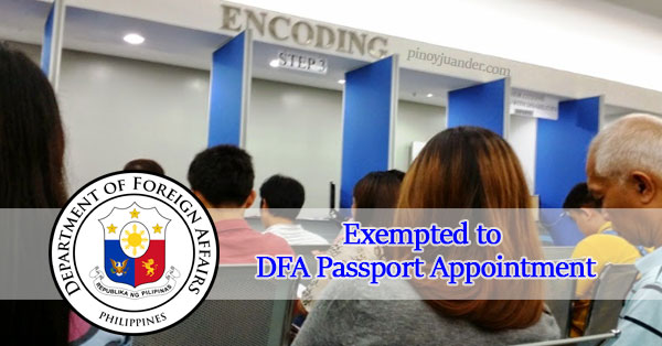 Who-are-Exempted-from-DFA-Passport-Appointment