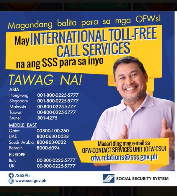 SSS International Toll Free Number
